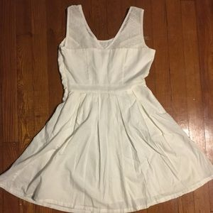 Lace and Cotten white American eagle dress